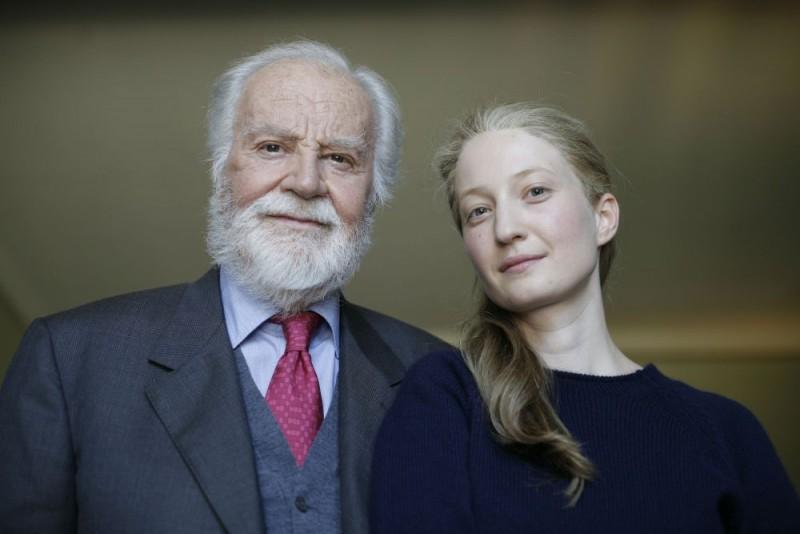 Gabriele Ferzetti e Alba Rohrwacher in una foto promozionale del film Io sono l'amore