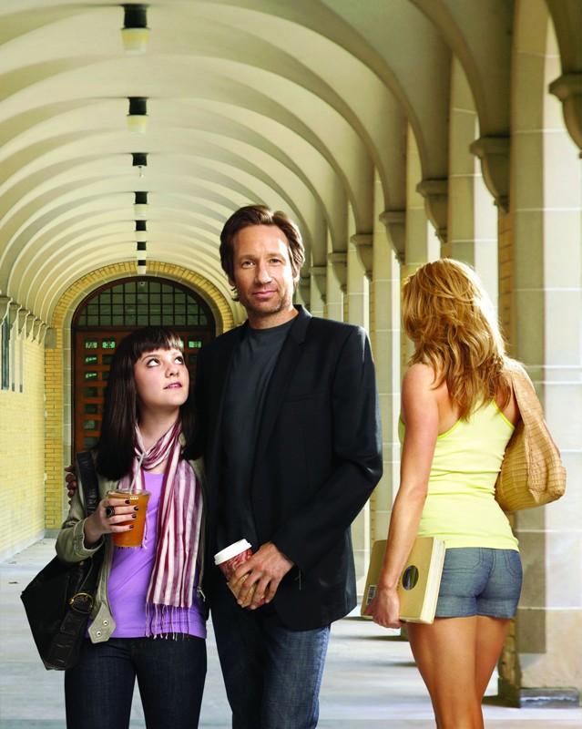 Hank Moody (David Duchovny) con la figlia Becca (Madeleine Martin) per la 3 stagione di Californication