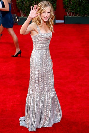 Holly Hunter sul tappeto rosso degli Emmy Awards 2009