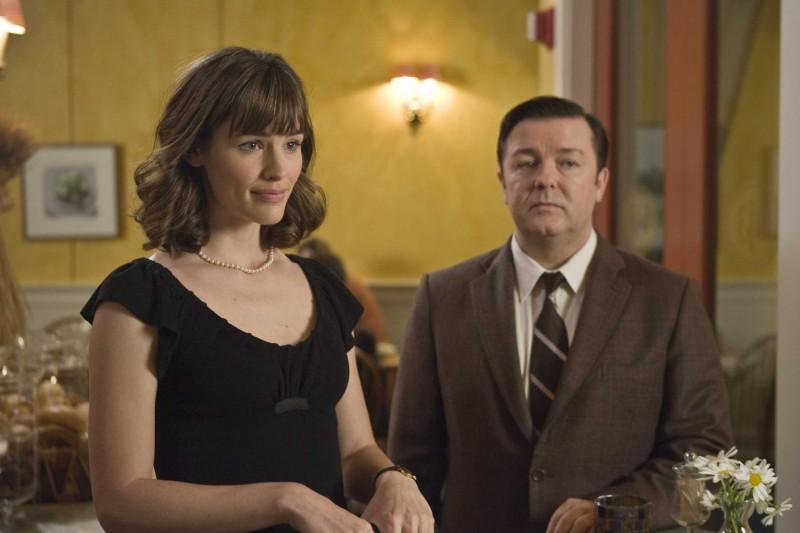 Jennifer Garner e Ricky Gervais in una scena del film The Invention of Lying