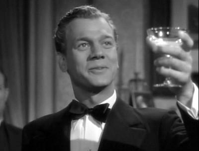 Joseph Cotten in una scena del mystery L'ombra del dubbio ( 1943 )