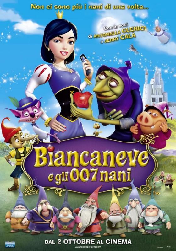 La locandina italiana di Biancaneve e gli 007 nani