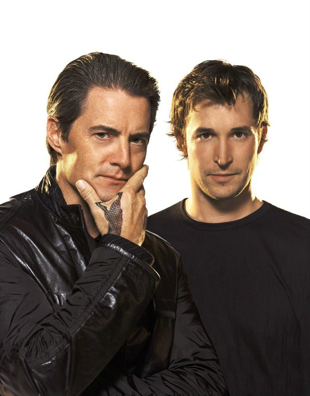 Una foto promo di Noah Wyle e Kyle MacLachlan per il film The Librarian: Quest for the Spear