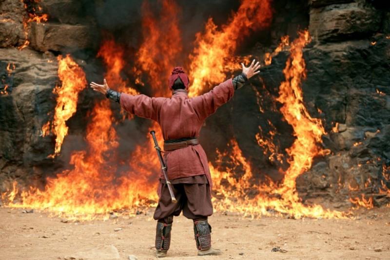 Una sequenza de La battaglia dei tre regni, diretto da John Woo