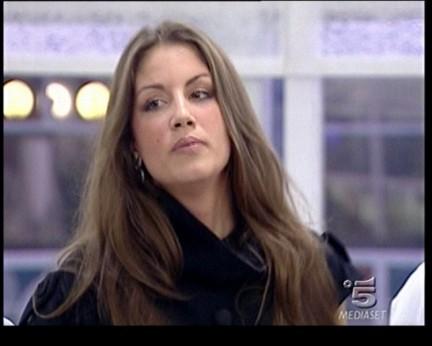 Francesca Fioretti durante una puntata serale del GF9