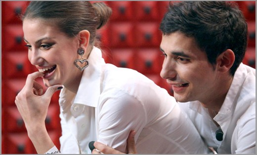Francesca Fioretti e Ferdi Berisa in confessionale durante il GF9