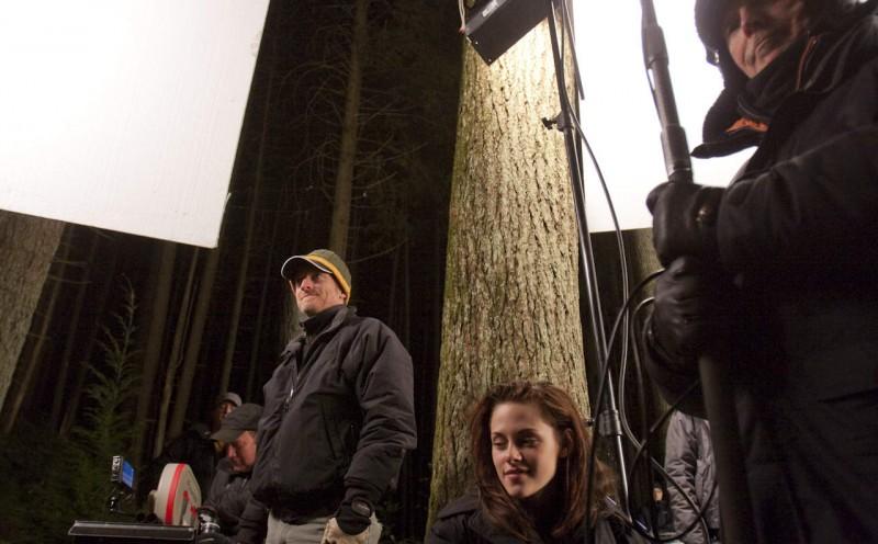 Kristen Stewart sul set di Twilight Saga: New Moon