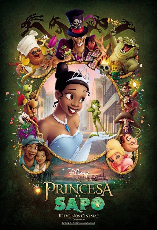 Un colorato poster brasiliano per La principessa e il ranocchio