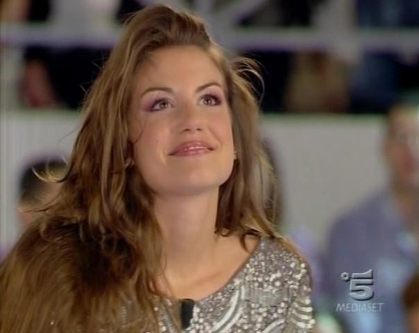 Francesca Fioretti in studio durante la finale del GF9