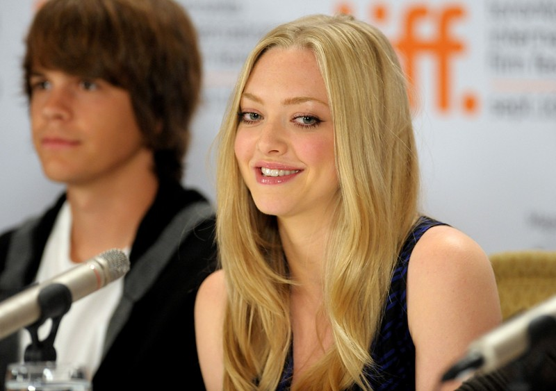 Johnny Simmons ed Amanda Seyfried alla conferenza stampa del film Jennifer's Body, al Toronto International Film Festival in Canada, l'11 Settembre 2009