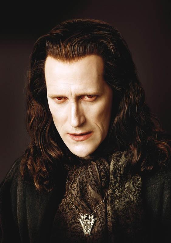 Un primo piano di Marcus (Christopher Heyerdahl) del clan dei Volturi per il film Twilight Saga: New Moon