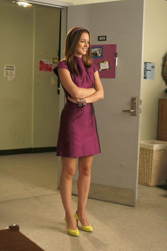 Blair (Leighton Meester) alla NYU in una scena dell'episodio The Freshman di Gossip Girl