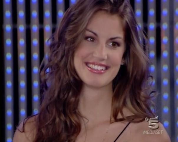 Francesca Fioretti durante un programma Tv
