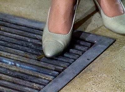 I piedi di Tippi Hedren in una delle prime scene del film Marnie ( 1964 )