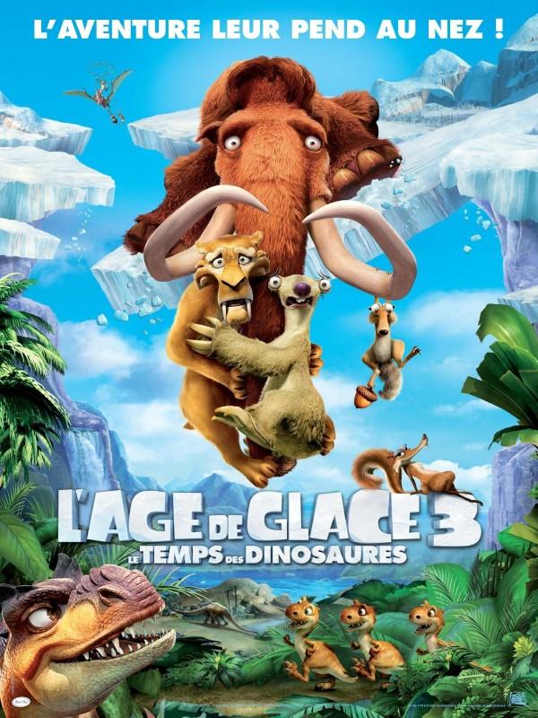 Il poster francese de L'era Glaciale 3 - L'Alba dei Dinosauri