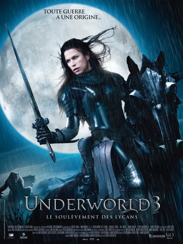 Il poster francese del film Underworld: Rise of the Lycans