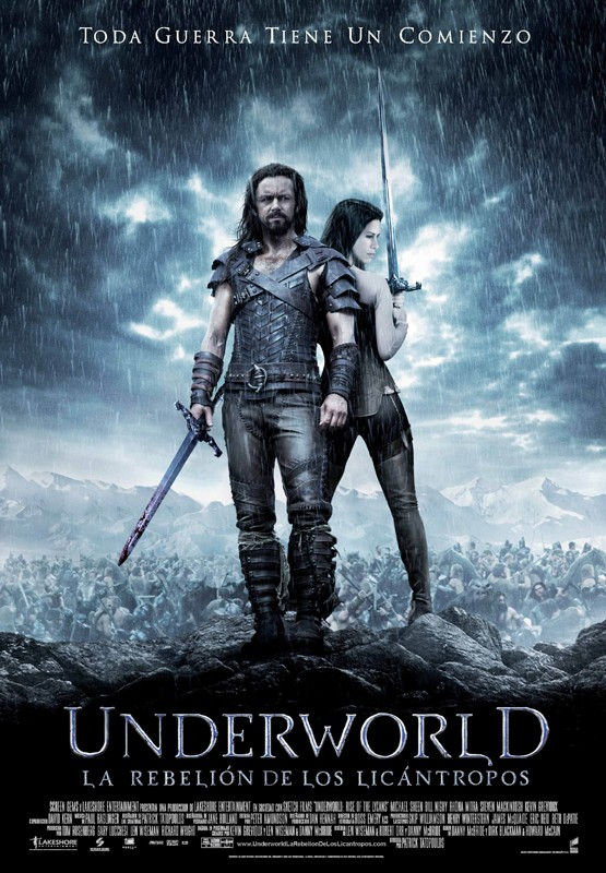 Il poster spagnolo del film Underworld: Rise of the Lycans