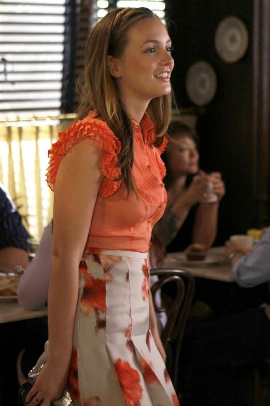 La bella Leighton Meester in una scena dell'episodio The Freshman di Gossip Girl