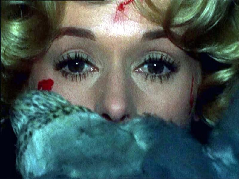 Tippi Hedren attaccata dagli uccelli nel film di Alfred Hitchcock.