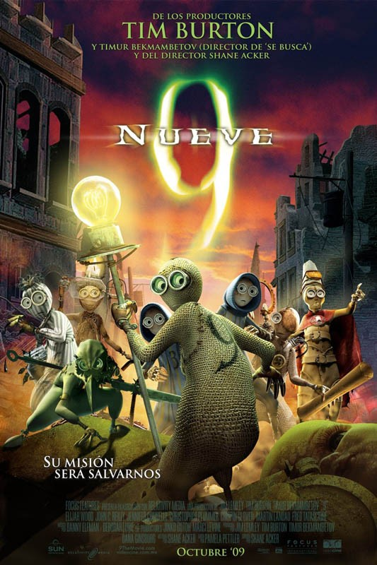 Un poster spagnolo del film d'animazione 9