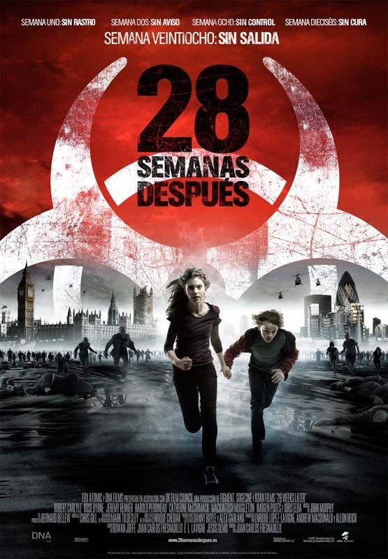 Il poster spagnolo di 28 Semanas Después (28 Weeks Later)