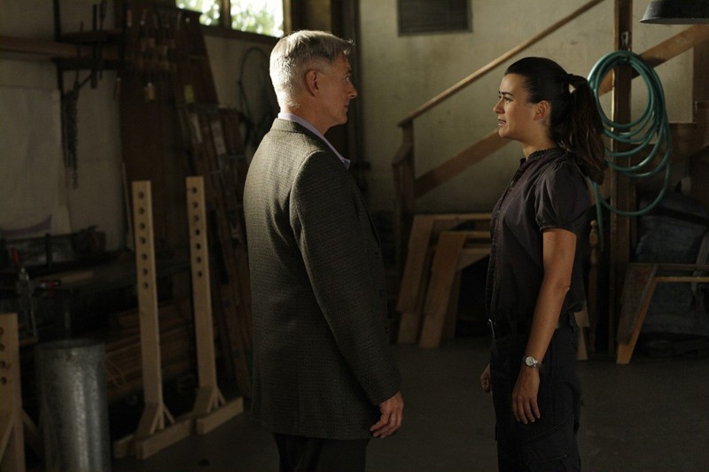 Jethro Gibbs (Mark Harmon) e Ziva David (Cote de Pablo) in una scena dell'episodio Reunion di Navy NCIS