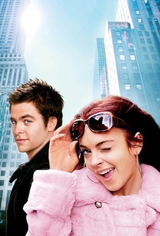 Un'immagine promo con Lindsay Lohan e Chris Pine per Baciati dalla sfortuna