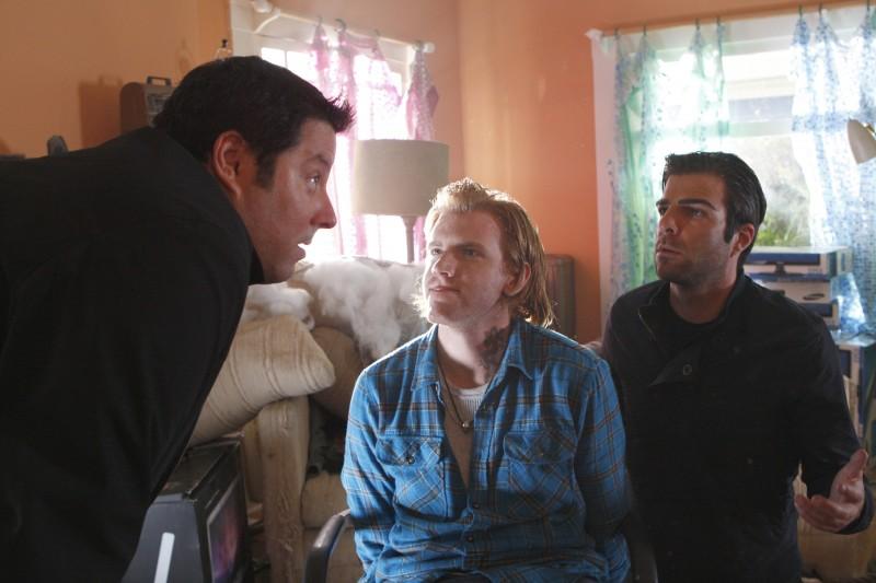 Greg Grunberg e  Zachary Quinto in una scena tratta da Ink dalla quarta stagione di Heroes