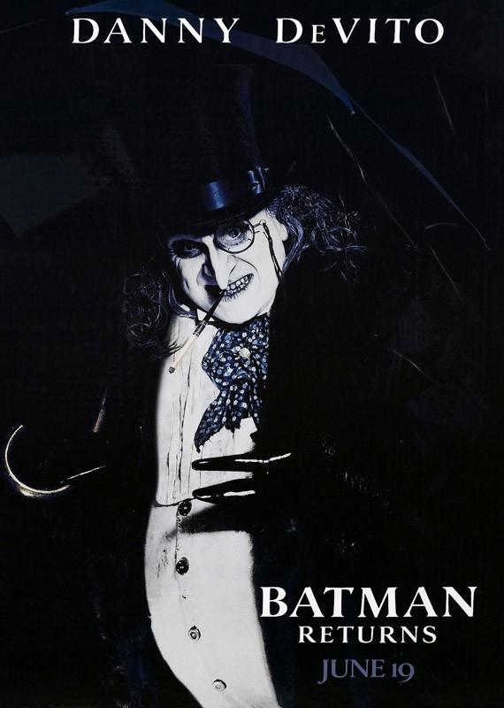 Il character poster americano del Pinguino per il film Batman - Il Ritorno