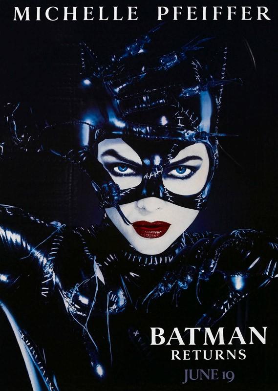 Il character poster americano di Catwoman per il film Batman - Il Ritorno