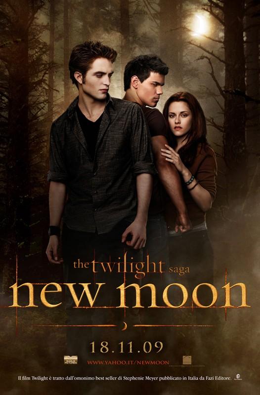 La locandina di The Twilight Saga: New Moon diffusa da Eagle Pictures con la nuova data d'uscita Italiana