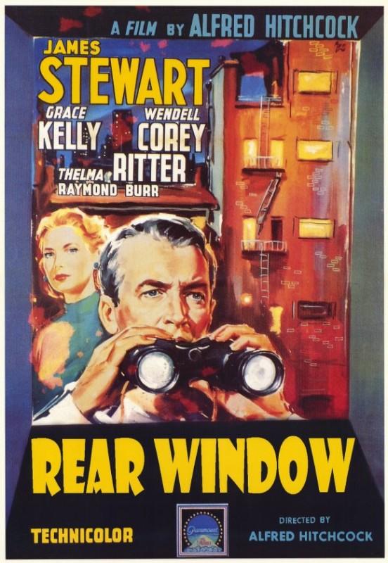 Locandina del film La finestra sul cortile (Rear Window) di Alfred Hitchcock