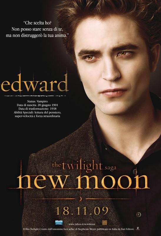 Un character poster dedicato a Edward (Robert Pattinson) con la data di uscita in Italia