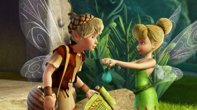 Un'immagine del film d'animazione Trilli e il tesoro perduto