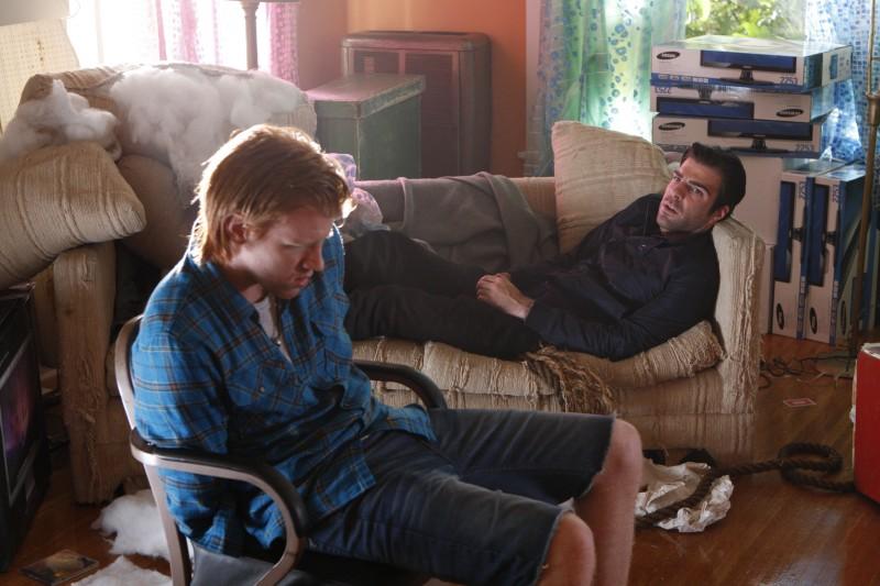 Zachary Quinto in una scena da Ink dalla quarta stagione di Heroes