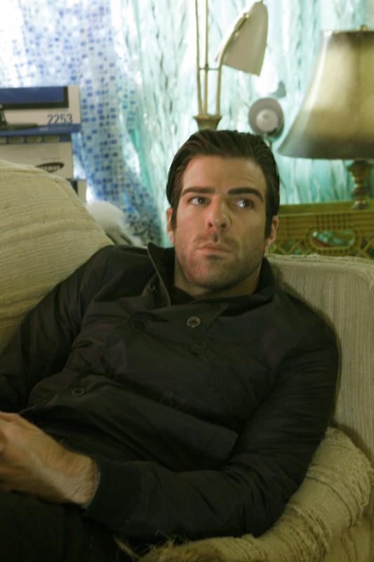 Zachary Quinto in una scena di Ink dalla quarta stagione di Heroes