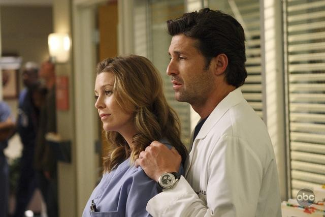 Ellen Pompeo e Patrick Dempsey in una scena dell'episodio I Always Feel Like Somebody's Watchin' Me di Grey's Anatomy