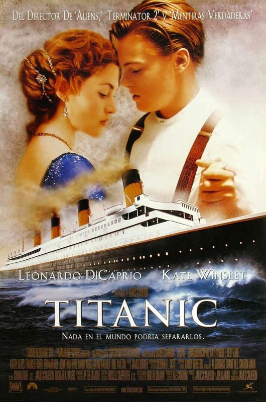 Il poster spagnolo di Titanic