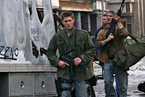 Jensen Ackles in una foto di scena dell'episodio The End di Supernatural