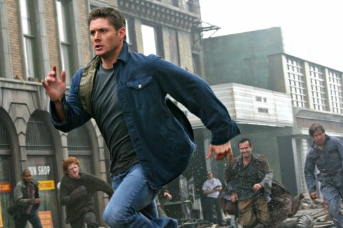 Jensen Ackles in una scena dell'episodio The End di Supernatural