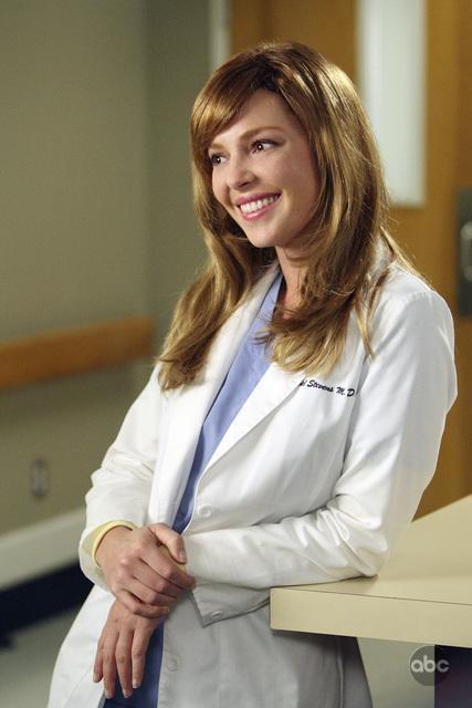 Katherine Heigl in una scena dell'episodio I Always Feel Like Somebody's Watchin' Me di Grey's Anatomy