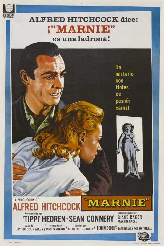 Locandina spagnola del film Marnie (1964)