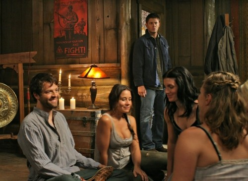 Una scena di gruppo dell'episodio The End di Supernatural