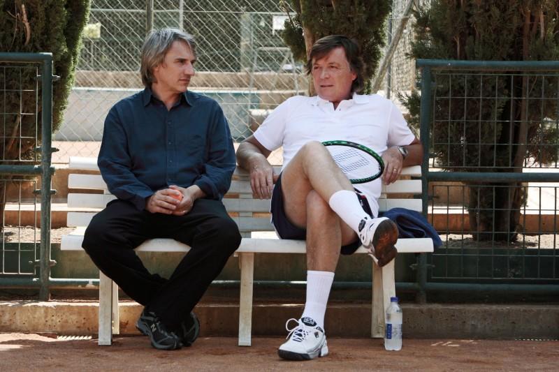 Adriano Panatta e Mimmo Calopresti nel documentario La maglietta rossa