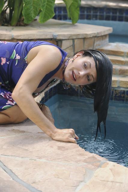 Courteney Cox in una scena dell'episodio Don't Do Me Like That di Cougar Town
