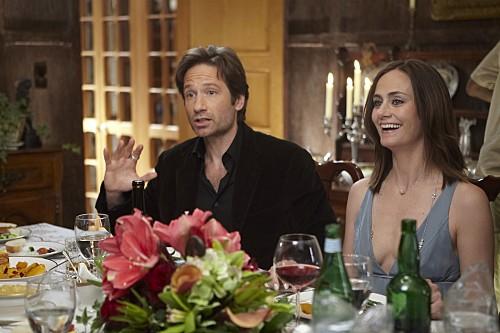 Diane Farr e David Duchovny nell'episodio Wish You Were Here di Californication