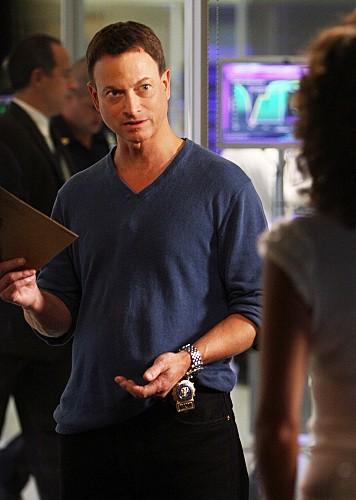 Gary Sinise in una scena dell'episodio Epilogue di CSI New York