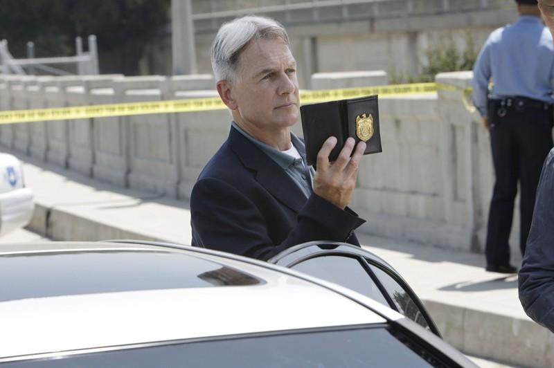 Jethro Gibbs (Mark Harmon) in un momento dell'episodio The Inside Man di Navy NCIS