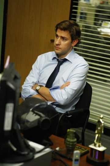 John Krasinski nell'episodio The Meeting della serie The Office