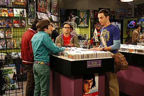Kunal Nayyar, Jim Parsons, Johnny Galecki e Simon Helberg nell'episodio The Jiminy Conjecture di The Big Bang Theory